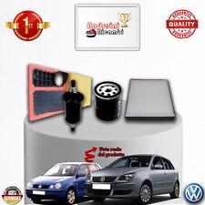KIT TAGLIANDO 4 FILTRI VW POLO IV 1.4 16V 59KW 80CV DAL 2006 -> 2008