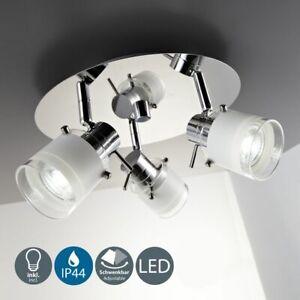 LED Badleuchte Lampe IP44 Badezimmer Strahler Deckenspot 3-flammig Außenlampe