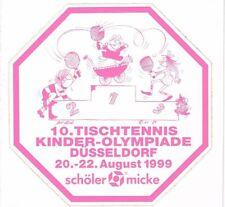 Aufkleber 10. Tischtennis-Kinder-Olympiade Düsseldorf 1999