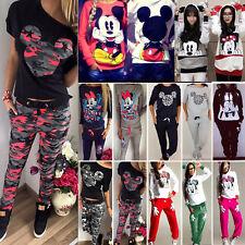 Damen Mickey Mouse Trainingsanzug Kapuzenpullover Sweatshirt Hose Jogginganzug
