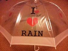 Me encanta Lluvia señoras clara burbuja domo Paraguas blanco ribete