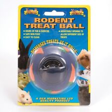 Small Animal Treat Dispensing ball. Rat Rabbit Ferret - Boredom Breaking Fun