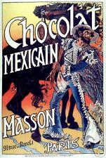 Art Nouveau Style Advertising Print 'Chocolat Mexicain'