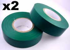 2x 20m Rolls of High Quality PVC Insulation Tape GREEN