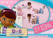 DOC MCSTUFFINS wall stickers 27 decals room decor Lambie Stuffy Chilly Disney
