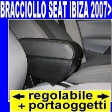 SEAT IBIZA (2007-2016) -bracciolo con portaoggetti REGOLABILE -vedi tappeti auto