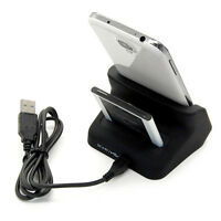 Dual Battery Charger Dock Charging Holder For Samsung Galaxy S4 S IV i9500 Black