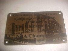CHICAGO STADIUM   Stadium seat PLAQUE HOME OF THE BLACKHAWKS AND BULLS