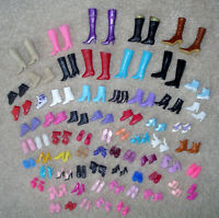 Exquisite 12 pairs creative combination BARBIE SHOES Babi Ba ratio doll shoes UJ
