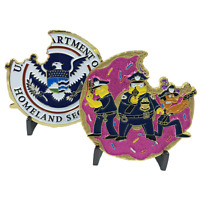 Police Task Force Simpsons inspired Donut Challenge Coin NYPD CBP FBI Task Force