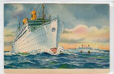 S.S. KUNGSHOLM & GRIPSHOLM: Swedish American Line shipping postcard (C17071)