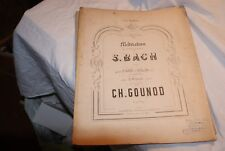 Bach méditation  Partition pour piano et violon avec orgue  ch gounod