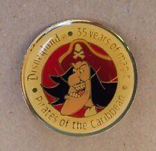 Disney Pin 1452 1990 Disneyland Celebrating 35 Years with Captain Hook