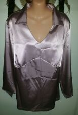 BeMe Size 16 Pink Stretch Satin BNWT Top