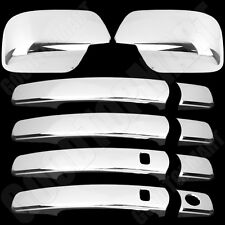 For Nissan Rogue 08-13 Chrome Cover Set 4 Door Handle Covers Smart KH & Mirror