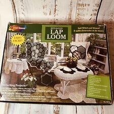 Vintage Hexagon Lap Loom 8 Pieces W/ Instruction Booklet Weaving Shuttle Needle