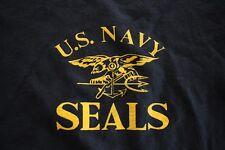USN US NAVY ALL RANKS SEALS SHIP SHORE ATHLETIC PT CREWS SS DARK BLUE T-SHIRT LG