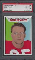 1965 Topps CFL Football Card #15 Bob Swift Graded PSA 6