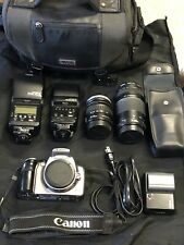 Canon DS6041 EOS Rebel Digital Camera Bundle Includ 2 Canon Lenses Tested Works