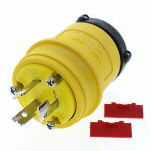 Cooper Yellow Non-NEMA Hart-Lock Plug Twist Turn Locking 20A 125/250V 3ØY 9965PY