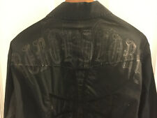 Roar Men's Size XL Black Embroidered L/S Button Front Club Shirt No Excuses