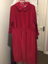 Jacadi Girls Red Velour Dress Size12