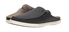 Olukai Huaka Black/Dark Shadow Mule Loafer Shoe Women's sizes 6-11/NEW!!