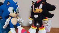 "Rare Shadow and Sonic The Hedgehog Plush Soft Toy Friends Sega Prize 12"""