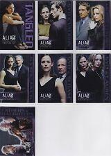 ALIAS SEASON 3 TANGLED PREVIEW SET T1-T7  7 CARDS Jennifer Garner