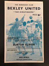 Bexley United v Burton Albion, (Southern League Div 1), 11.12.1965.