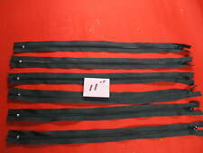 """Quickly ship from US Nylon Coil Zipper Tailor Sewer Craft 11"""" Black 100 PK"""
