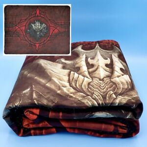 """Diablo 1 2 3 Large Soft Fleece Sherpa Throw Blanket 60 x 82"""" Officially Licensed"""