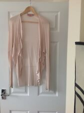 LADIES 'TEDBAKER' PALE PINK CARDIGAN. SIZE 8/ TEDBAKER SIZE 1. HIP LENGTH.