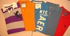 Lot Of 5 AMERICAN EAGLE AERO  EXPRESS Mens S/S POLO  Shirts Size LARGE T5260