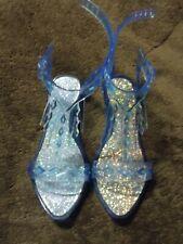 Disney Girls Elsa Frozen 2 Princess Jelly Icicle Sandals Dress Up Play 11/12
