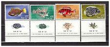 s30071) ISRAEL MNH** 1963 Fish 4v
