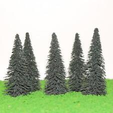 Lotto di 5 alberi di pino nuovi ideali per paesaggi in scala H0