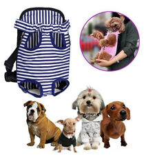 Stripe Nylon Pet Backpack Puppy Dog Cat Mesh Carrier Front Net Bag Tote Sling Xl