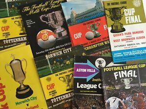 Original English League Cup Final Football Programmes *Choose from list*