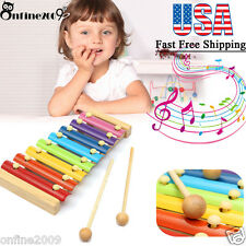 8 Tone Xylophone Piano Musical Toys Wisdom Development Wooden Toy for Baby Kid