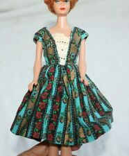 Barbie size handmade cotton retro 50's full skirt style dress vintage (no doll)