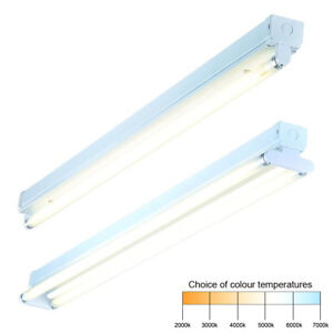 T8 High Frequency Single / Twin Fluorescent Batten Fitting 2ft 4ft 5ft 6ft IP20