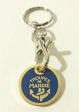 Porte-Clés avec insigne TDM Troupes de Marine type jeton de 1 EURO pour CADDY
