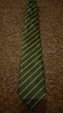 Green Striped Tie Made in Milano Italy by Clemence 100% Polyester