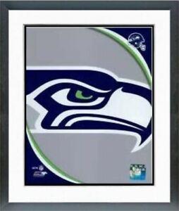 "Seattle Seahawks NFL Team Logo Photo (Size: 12.5"" x 15.5"") Framed"