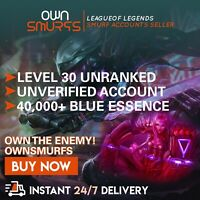 [EUNE 40K+] League of Legends Unranked Account EUNE SMURF LoL 40,000 - 50,000 BE
