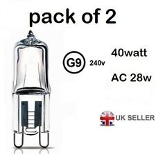 G9 light output 40w ac 28w  Halogen Bulb 350 Lumens 240V Clear Capsule Lamp 2