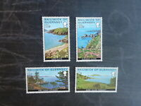 GUERNSEY 1976 LANDSCAPES SET 4 MINT STAMPS