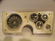 1963 PLYMOUTH VALIANT INSTRUMENT CLUSTER COMPLETE OEM SPEEDO GAS ALT TEMP GAUGES