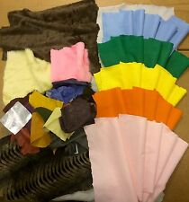 1 KG Arts And Crafts Pack, Faux Fur, Felt, Suede & Leather Bundle.Ideal For Kids